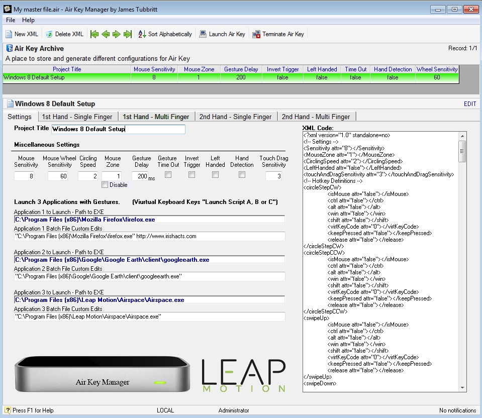 View topic - Air Key Manager for Leap Motion  - Korg Forums